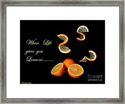 When Life Gives You Lemons II Framed Print by Angelika Sauer