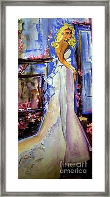 When Lovely Women Framed Print by Helena Bebirian