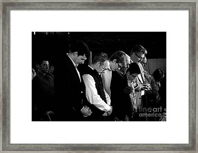 When Men Put God First Framed Print