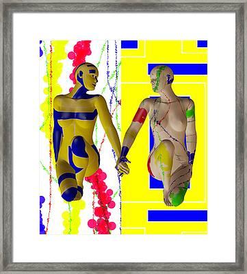 When Modern Met Abstract  Framed Print by Sir Josef - Social Critic -  Maha Art