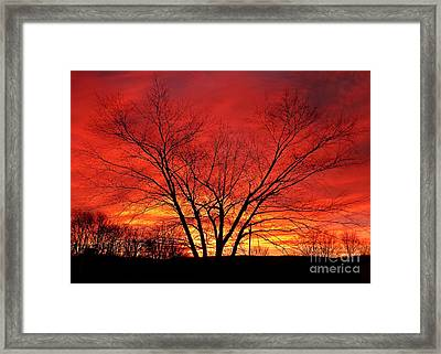 When Morning Guilds The Skies Framed Print by Christian Mattison