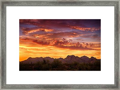 When Mother Nature Paints  Framed Print