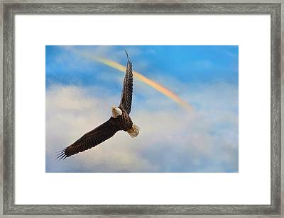 When My Wings Touch The Rainbow Framed Print by Jai Johnson