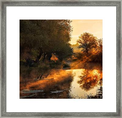 When Nature Paints With Light Framed Print