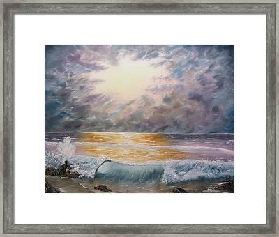 When Oceans Rise Framed Print by Gavin Kutil