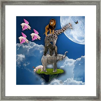 When Pigs Fly Framed Print by Marvin Blaine