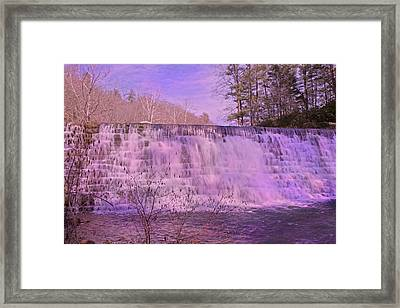 When Pink Falls Framed Print by Betsy Knapp