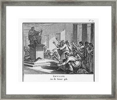 When Plague-afflicted Romans  Come Framed Print by Mary Evans Picture Library