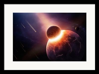 Cosmic Collision Framed Prints
