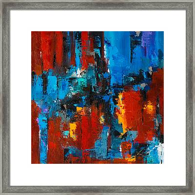 When Red And Blue Meet Framed Print by Elise Palmigiani