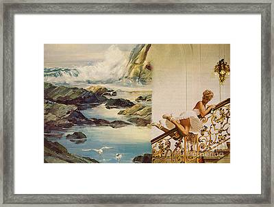 When She Drinks Champagne Framed Print by Angela Bruno