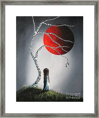 When She Thinks About You By Shawna Erback Framed Print by Shawna Erback