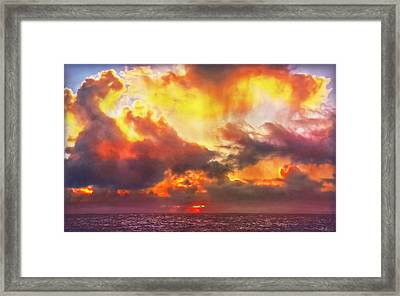 When Skies Become Abstract Framed Print