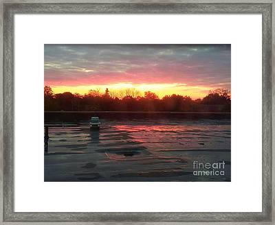 When Sunrise Calls Framed Print by Judy Via-Wolff