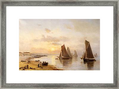 When The Boats Come Home Framed Print by Alexander Williams