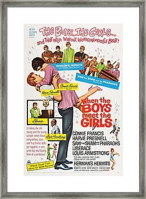 When The Boys Meet The Girls, Top Framed Print by Everett