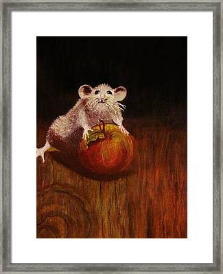 Framed Print featuring the painting When The Cat Is Not At Home... by Cristina Mihailescu