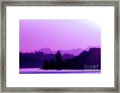 When The Deep Purple Falls Framed Print by Chris Anderson