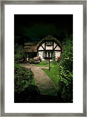When The Elves And The Hobbits Celebrate Night Framed Print