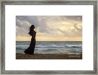 When The Fire Touched The Night Framed Print