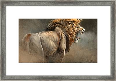 When The King Speaks Framed Print