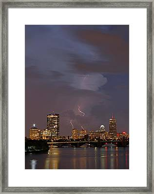 When The Lightning Strikes Framed Print by Juergen Roth