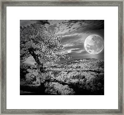 Framed Print featuring the photograph When The Moon Comes Over Da Mountain by Robert McCubbin