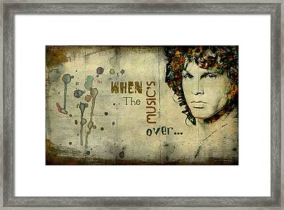 When The Music's Over... Framed Print by Marie  Gale