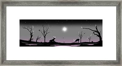 When The Night Has Come And The Land Is Dark And The Moon Is The Only Light We'll See Framed Print by Peter Stevenson
