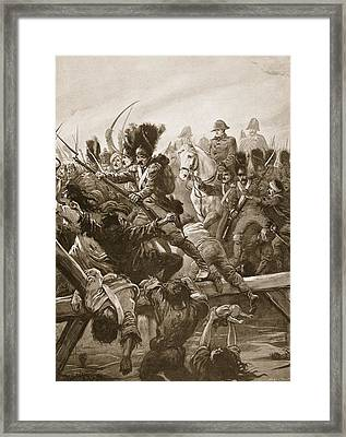 When The Remnant Of The Guard Was Seen Framed Print by Paul Hardy