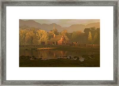 When The Rooster Crows Framed Print by Dieter Carlton