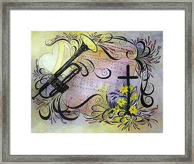 When The Saints Go Marching In Framed Print