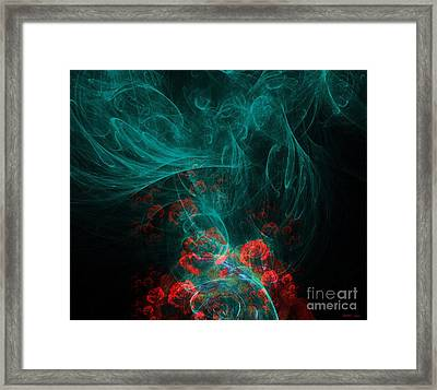 When The Smoke Clears They Bloom Framed Print by Elizabeth McTaggart