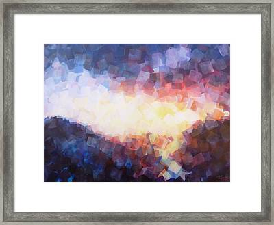 When The Sun Falls To The Sea Framed Print by Charles Smith
