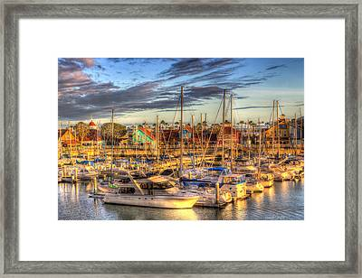 When The Sun Goes Down Framed Print by Heidi Smith
