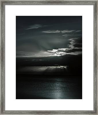 When The Sun Goes Down... Framed Print