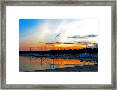 When The Sun Goes Down Framed Print by Susan  McMenamin