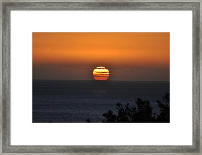 When The Sun Sets Framed Print by Sabine Edrissi
