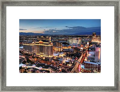 When Vegas Comes To Life Framed Print