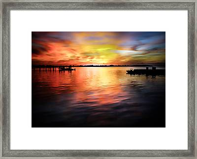 When Waters Meet The Heavens Framed Print