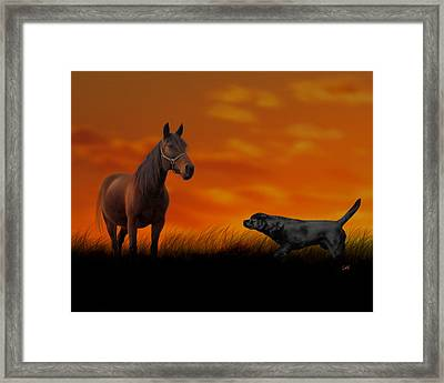 When We Met Framed Print