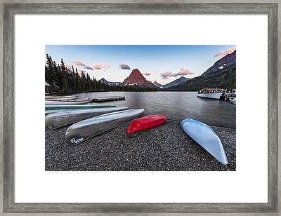When We Row Framed Print
