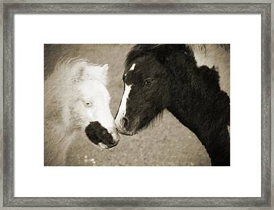 When We Touch Framed Print by Karol Livote