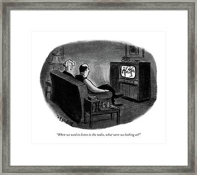 When We Used To Listen To The Radio Framed Print by Frank Modell
