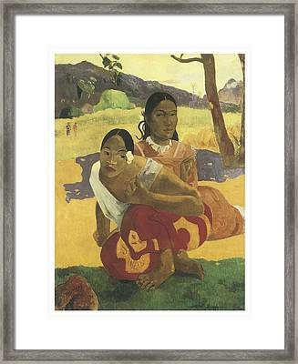 When Will You Marry Me Framed Print by Paul Gauguin