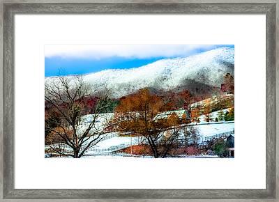 When Winter Blankets Autumn Framed Print by Karen Wiles