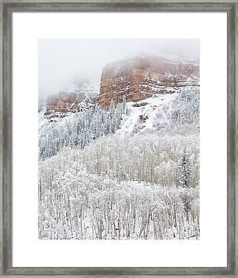 When Winter Falls Framed Print