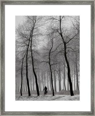 When Winter Knocks On The Door ... Framed Print
