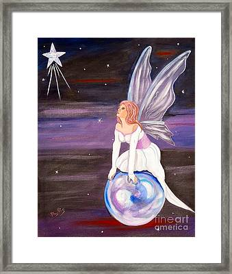 Framed Print featuring the painting When You Dream by Phyllis Kaltenbach