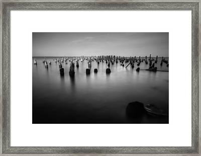 Where A Dock Once Stood Framed Print